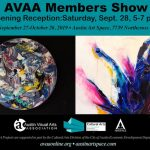 AVAA Members Show Opens At ArtSpace Sept. 28th